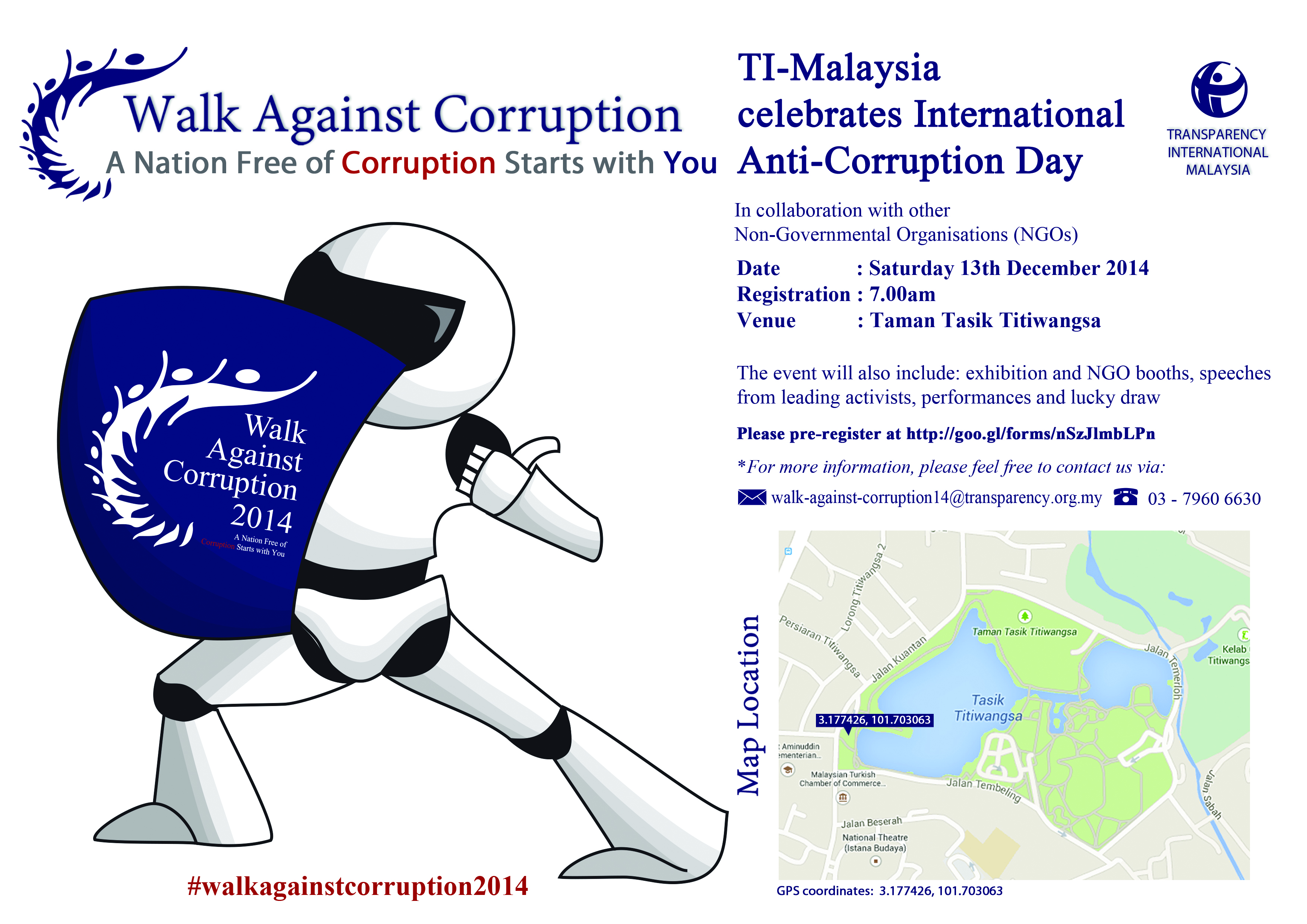 The 2014 Walk Against Corruption is this Saturday!