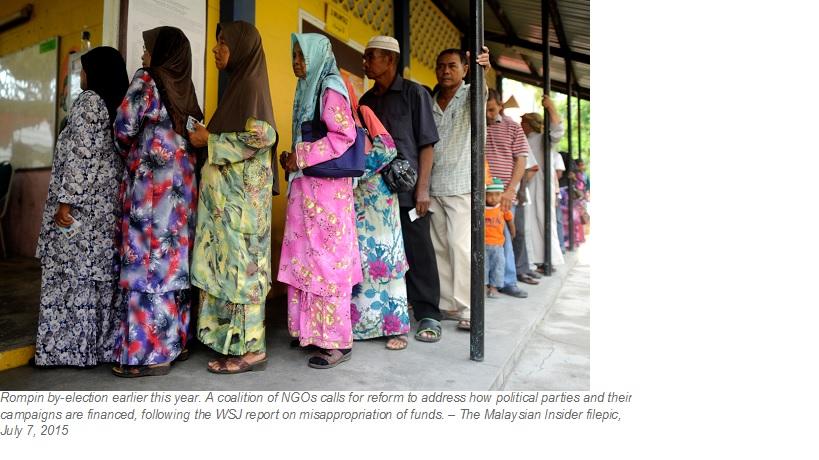 NGO coalition demands reform to fight money politics