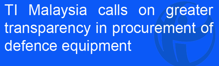 TI-M calls on greater transparency in procurement of defence equipment