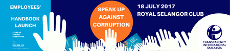 The launching of Speak up against Corruption: Employees' Handbook for SMEs
