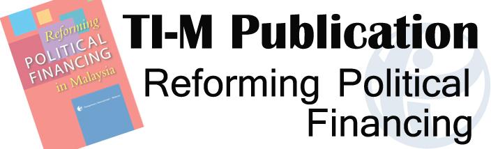 Reforming Political Financing Publication