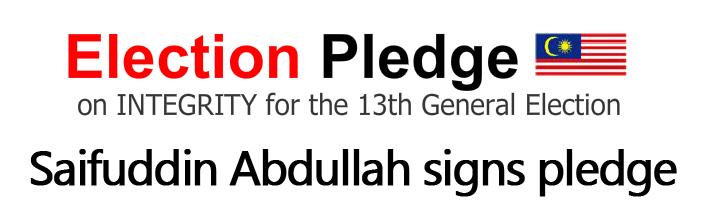 Saifuddin signs pledge, ready to declare assets